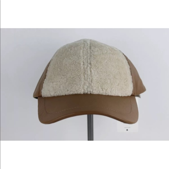 a4c36ff58f40a UGG Accessories | Leather Baseball Cap With Shearling Sheepskin ...